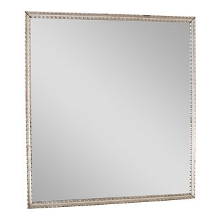 Antique French Silver Leaf Rectangular Mirror circa 1890