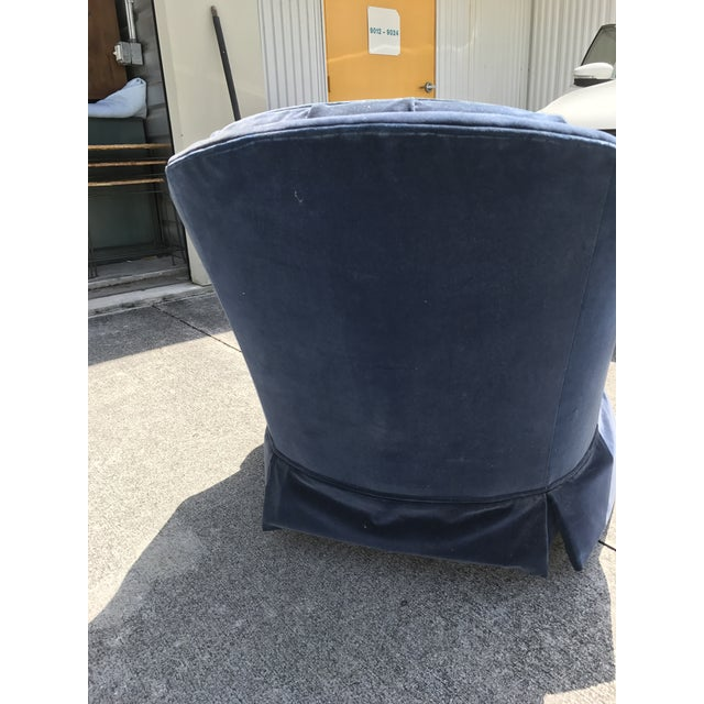 Ethan Allen Blue Tufted Chair - Image 3 of 7