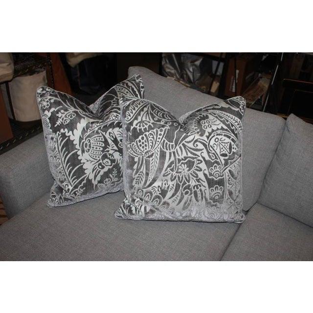 Charcoal Silk/Velvet Pillows - Set of 4 - Image 6 of 6