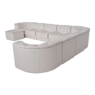 De Sede White Leather Sectional Sofa