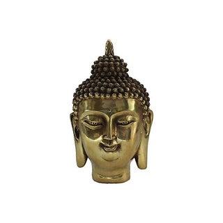 Brass Buddha Head Statue