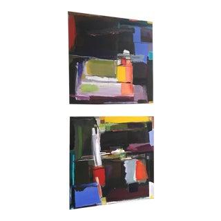 "2017 Valerie Ross ""Concierto"" Paintings - A Pair"