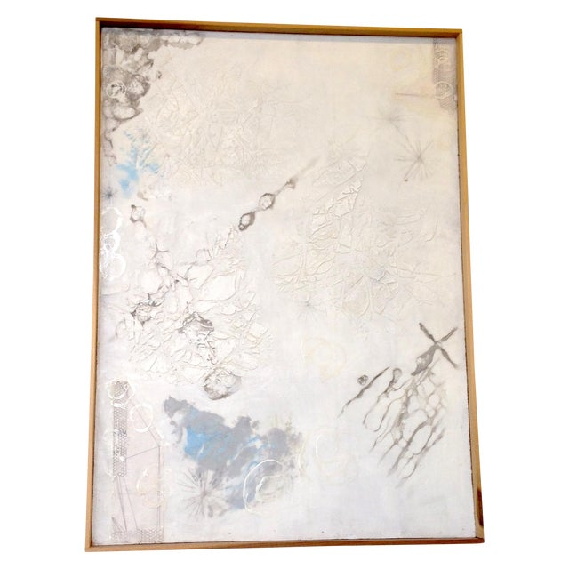 White Neutral Monochromatic Encaustic Painting - Image 1 of 5