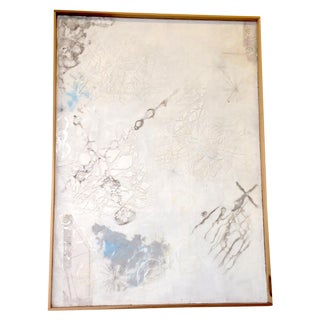 White Neutral Monochromatic Encaustic Painting