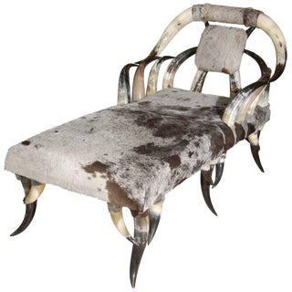 Horn & Cowhide Chaise Lounge