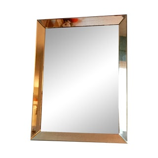 Beveled Glass Art Deco Wall Mirror