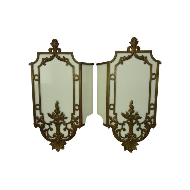 Sterling Bronze Co. Antique Deco Sconces - A Pair - Image 1 of 9