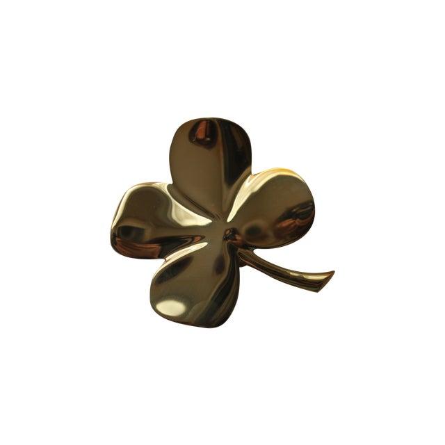 Image of Solid Brass Four Leaf Clover Door Knocker
