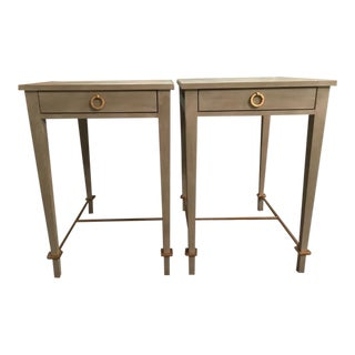 Modern History Modernist Shagreen Side Tables- A Pair
