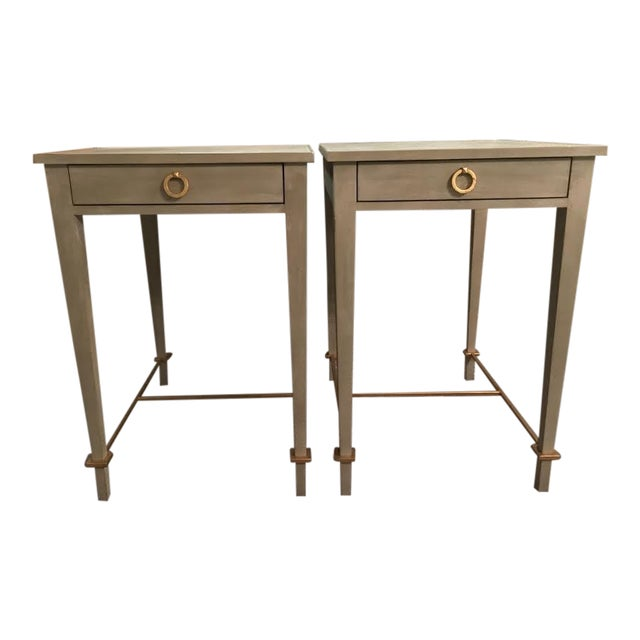 Modern History Modernist Shagreen Side Tables A Pair