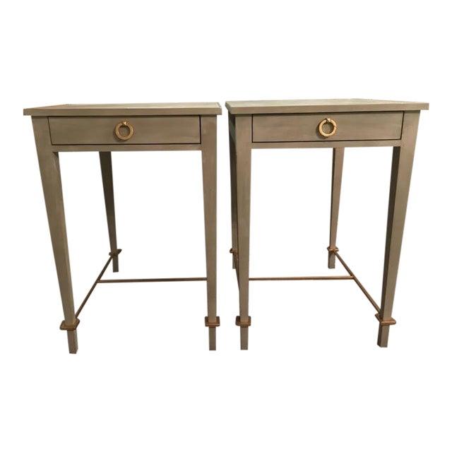 Modern History Modernist Shagreen Side Tables A Pair Chairish