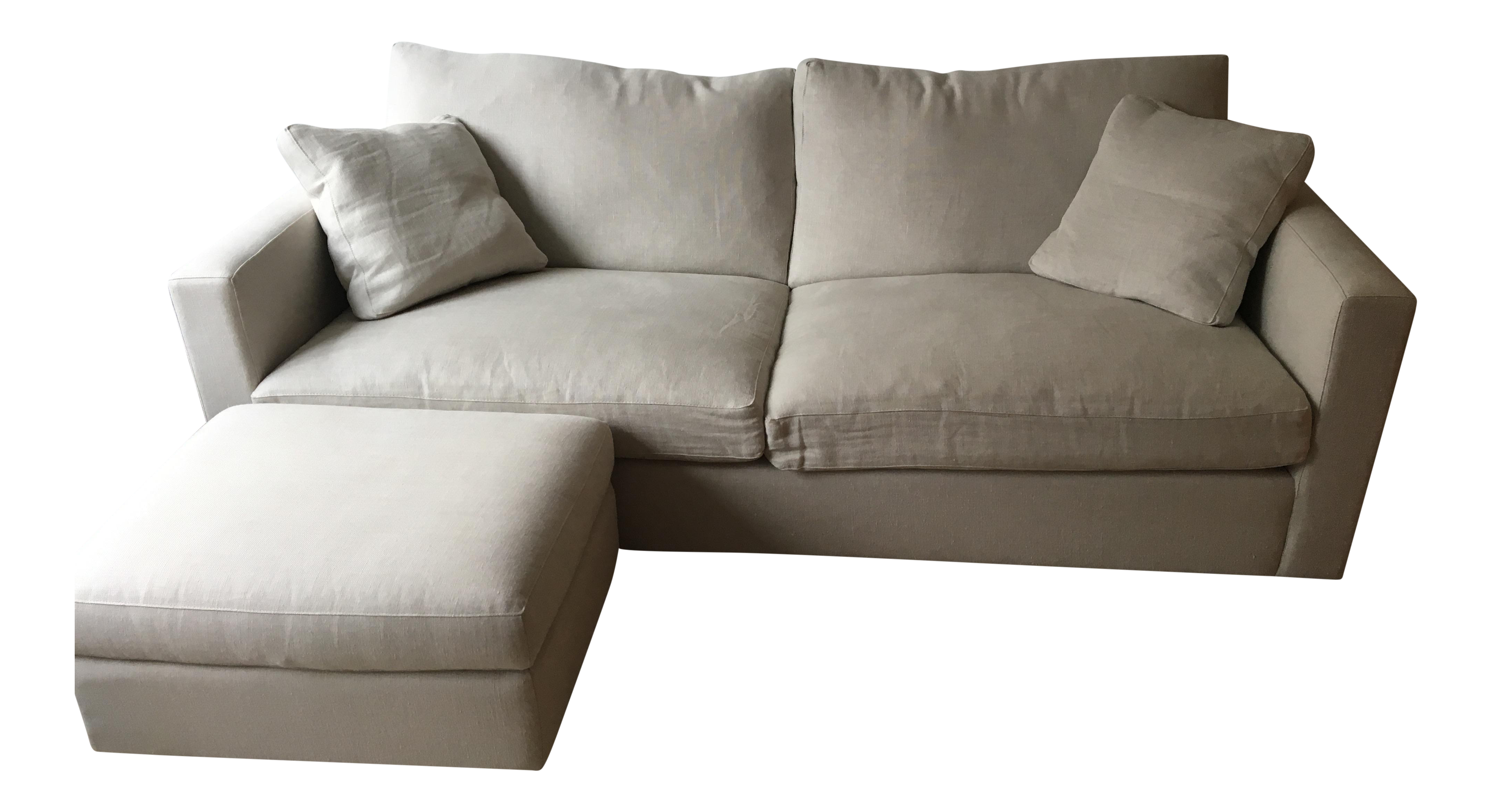 ABC Home Two Seater Sofa u0026 Ottoman - Image 1 ...  sc 1 st  Chairish : two seater sofa with chaise - Sectionals, Sofas & Couches