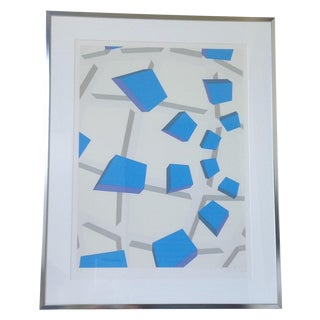 Original Signed Abstract Geometric Lithograph