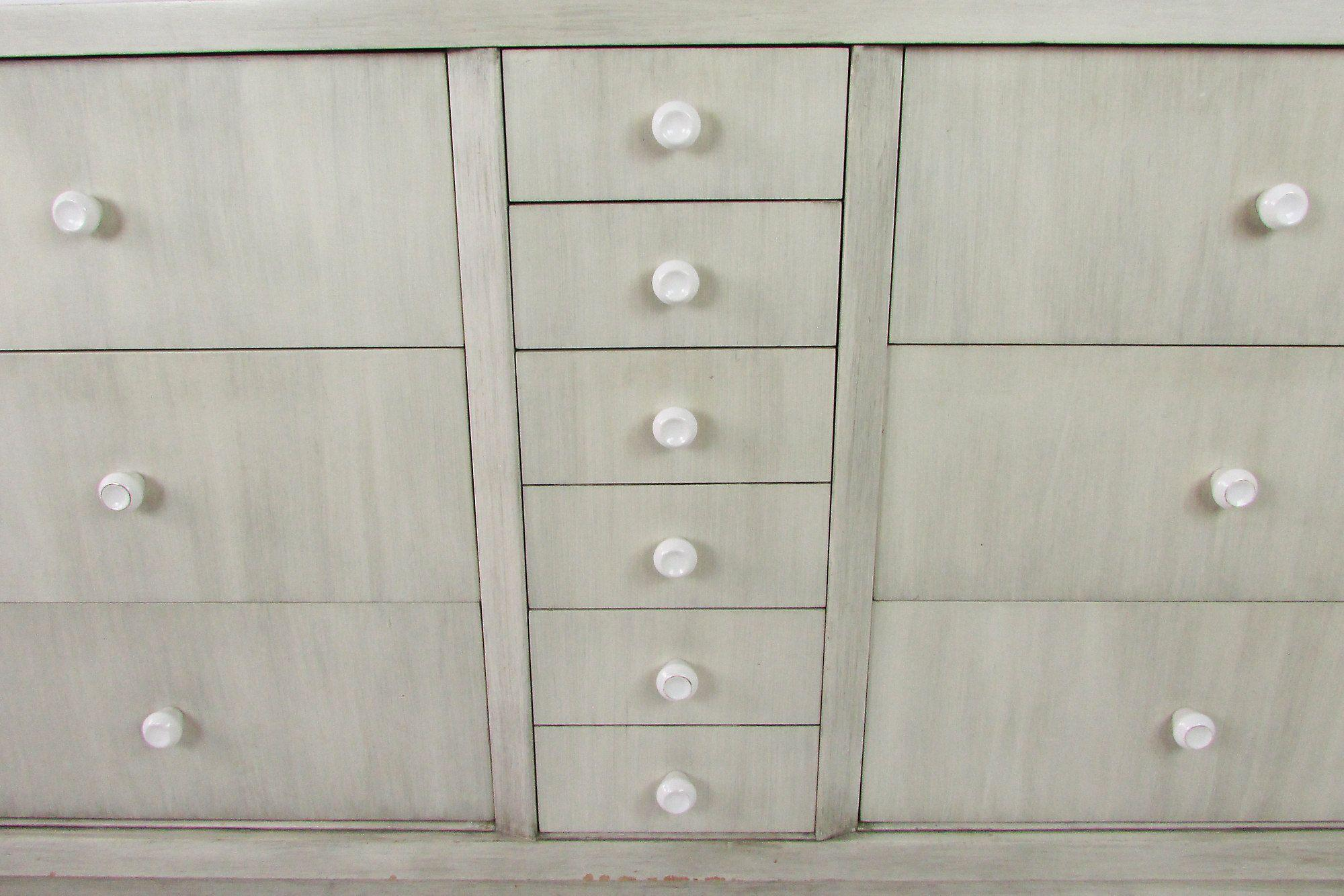 Albert Furniture Mid Century Gray Walnut Buffet   Image 4 Of 8