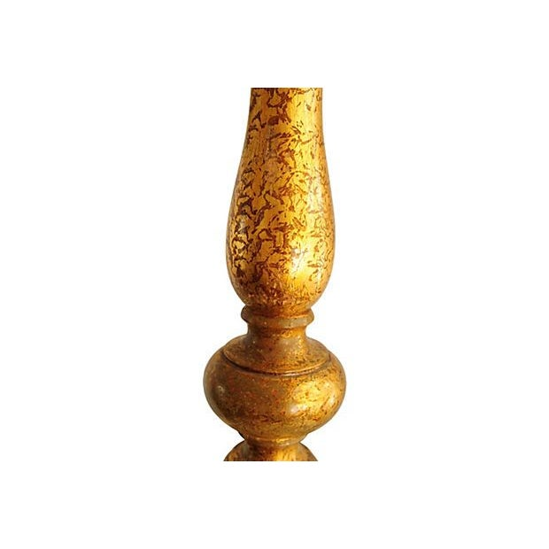 Image of Vintage Blue & Gold Ceramic Table Lamp