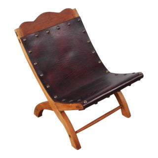Small Leather Chair Attributed to William Spratling