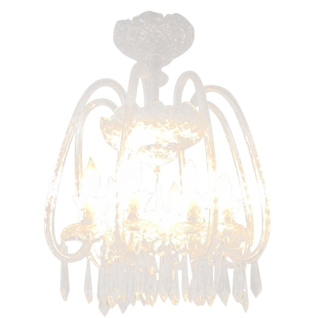 Image of F8 Waterford Fleur De Lys Crystal Chandelier