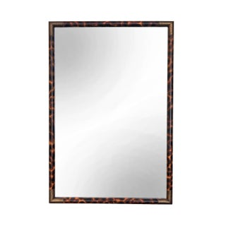 Campaign Style Faux Tortoiseshell Framed Mirror