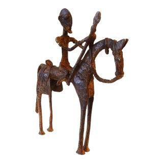 African Dogon Bronze Horseman Mali