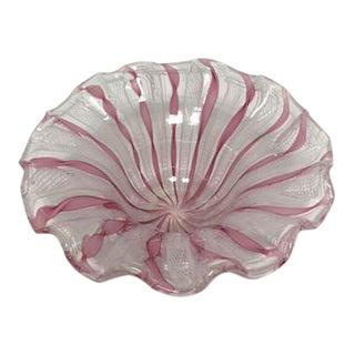 Murano Latticino Glass Bowl