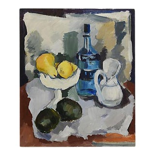 1969 Dorothy Neal Abstract Tablescape Still Life Oil Painting