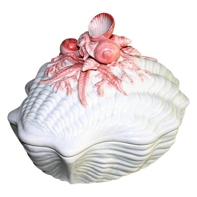 Fitz and Floyd Seashell Soup Tureen - Image 1 of 6