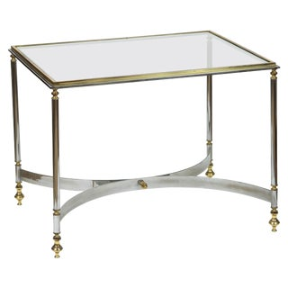 Brass & Chrome Coffee Table