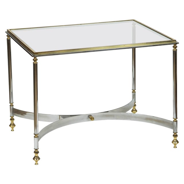 Image of Brass & Chrome Coffee Table