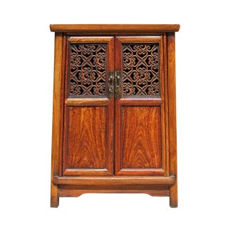 Chinese Huali Rosewood Flower Panel Door Small Noodle Cabinet cs2644