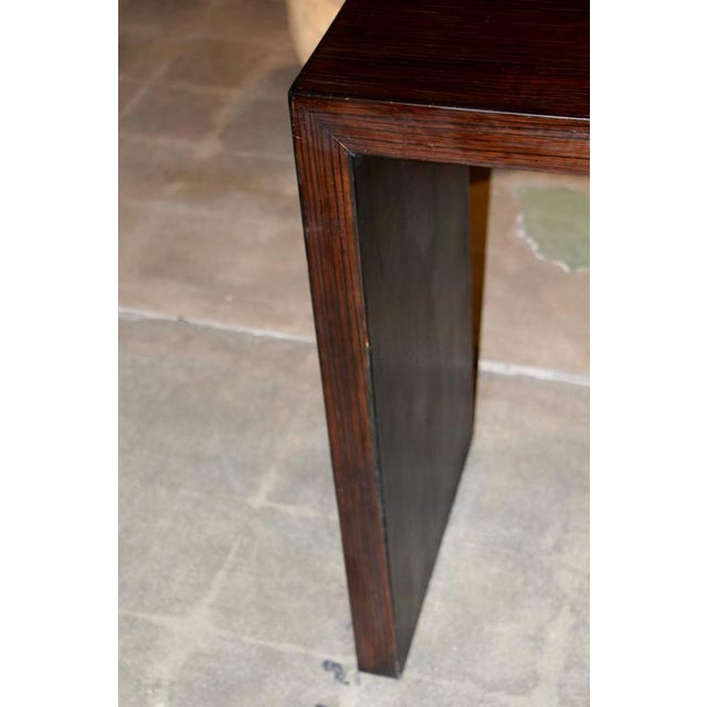 Image of Beautifully Grained Brown Console probably bamboo veneered
