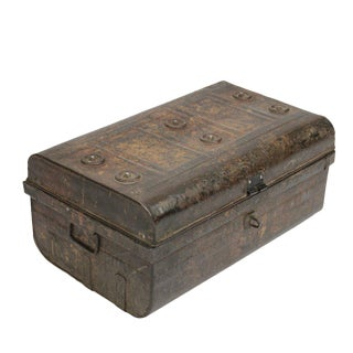 Industrial Metal traveling trunk