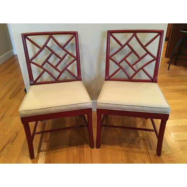 Hickory Chair Fretwork James River Side Chairs - A Pair - Image 10 of 10