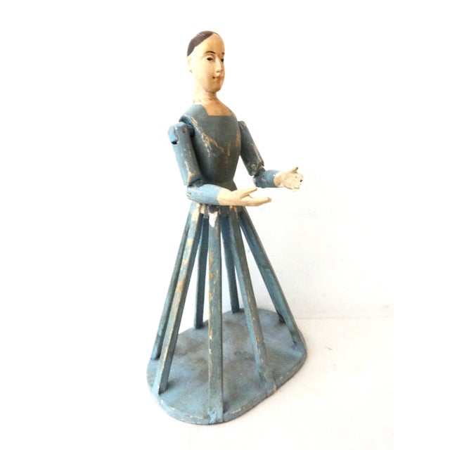 Image of Hand Carved Wood Articulated Hands Doll/Mannequin