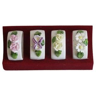 Vintage Bone China Napkin Rings - Set of 4
