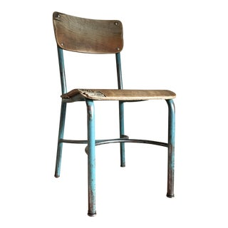 Industrial Vintage Wood & Metal School Chair