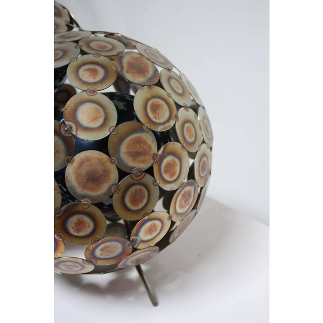 Steel and Enameled Porcelain Abstract Brutalist Table Sculpture - Image 8 of 10