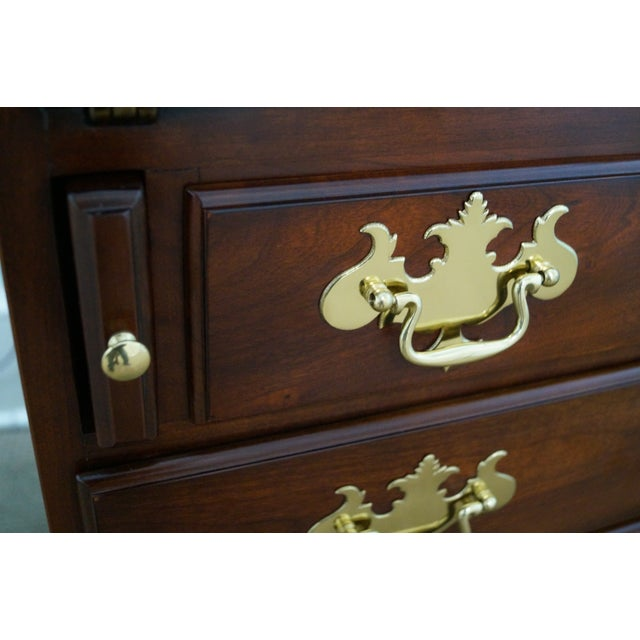 Statton Solid Cherry Chippendale Secretary Desk - Image 6 of 10