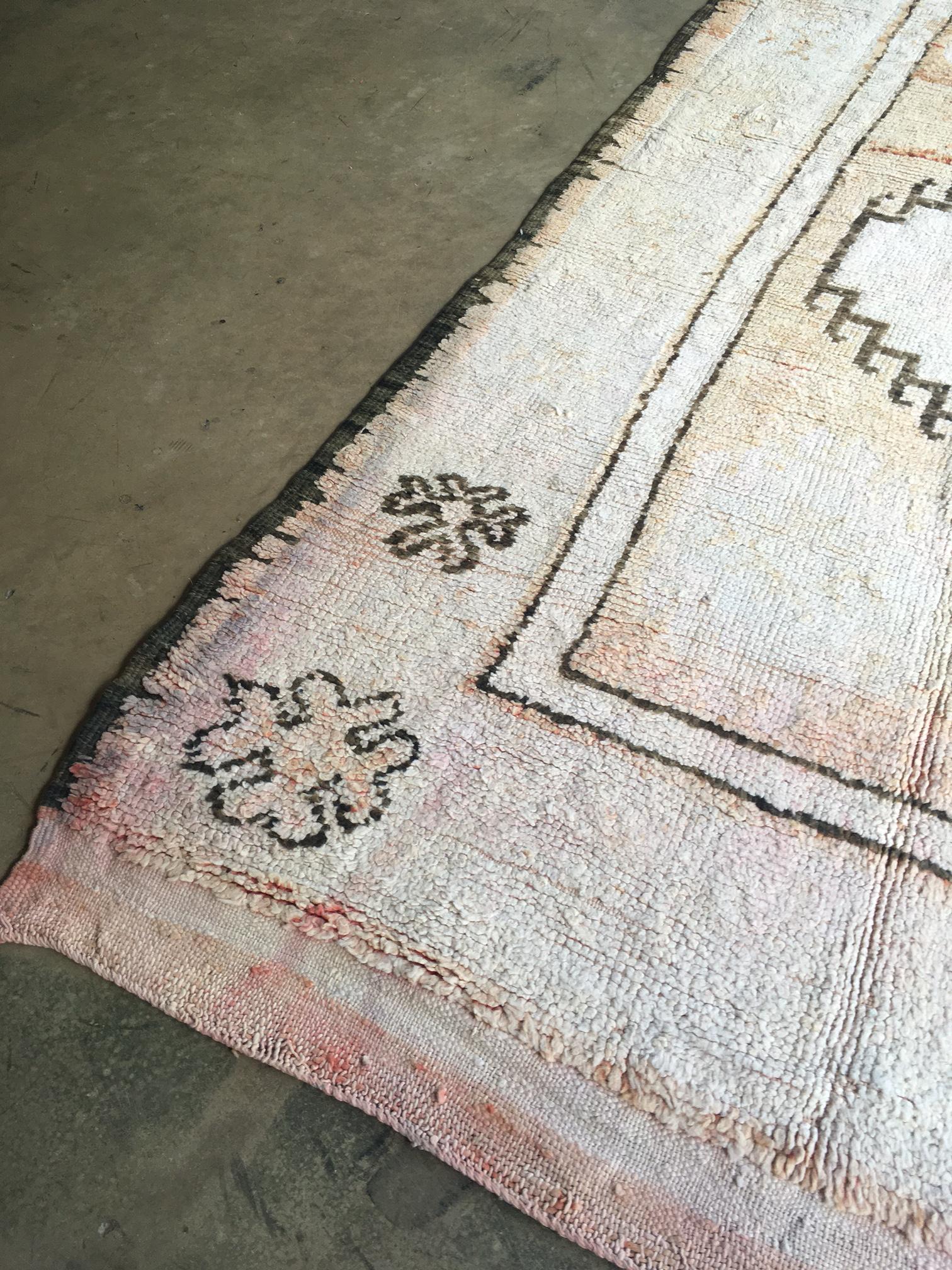 vintage moroccan blush pink boho boujad runner rug 4u00279 x 10u0027 image