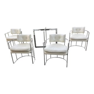 Thayer Coggin Chrome Chairs and Base