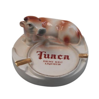 Italian Porcelain Tuaca Ashtray