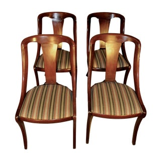 Deco-Regency Mahogany Dining Chairs - Set of 4