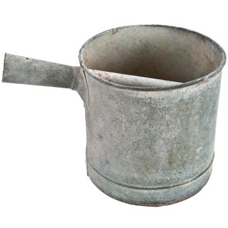 French Galvanized Water Bucket