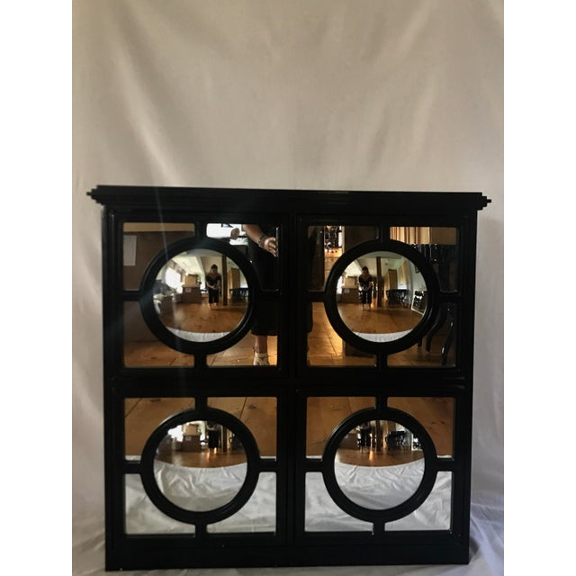 Ebony & Silver Mirrored Cabinet - Image 2 of 5