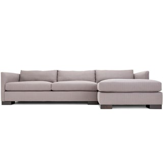 Clad Home Classic Grey Sectional Sofa