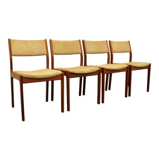 Mid-Century Danish Modern D-Scan Teak Dining Chairs - Set of 4