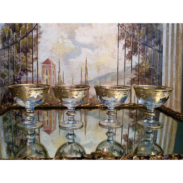 Arte Italica Vetro Gold Dessert Bowls - Set of 4 - Image 2 of 10