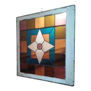Art Deco Stained Glass Window Panel