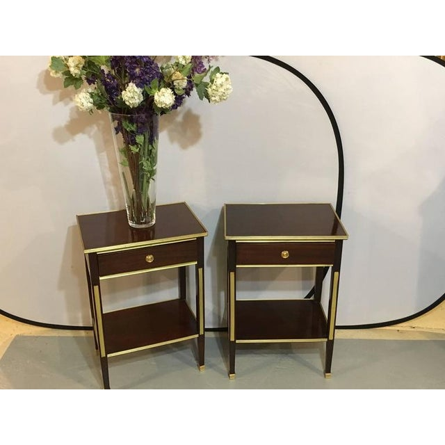 Image of Russian Style Bronze Mounted End Tables - A Pair