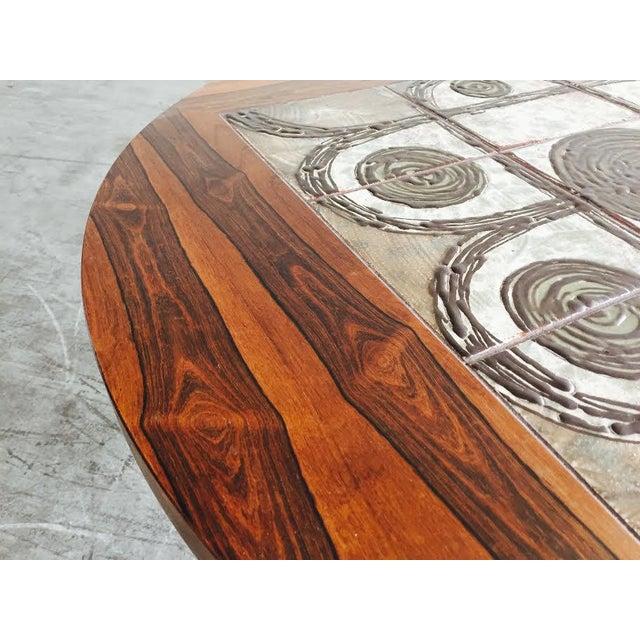 Vintage Danish Rosewood & Tile Top Coffee Table - Image 6 of 9