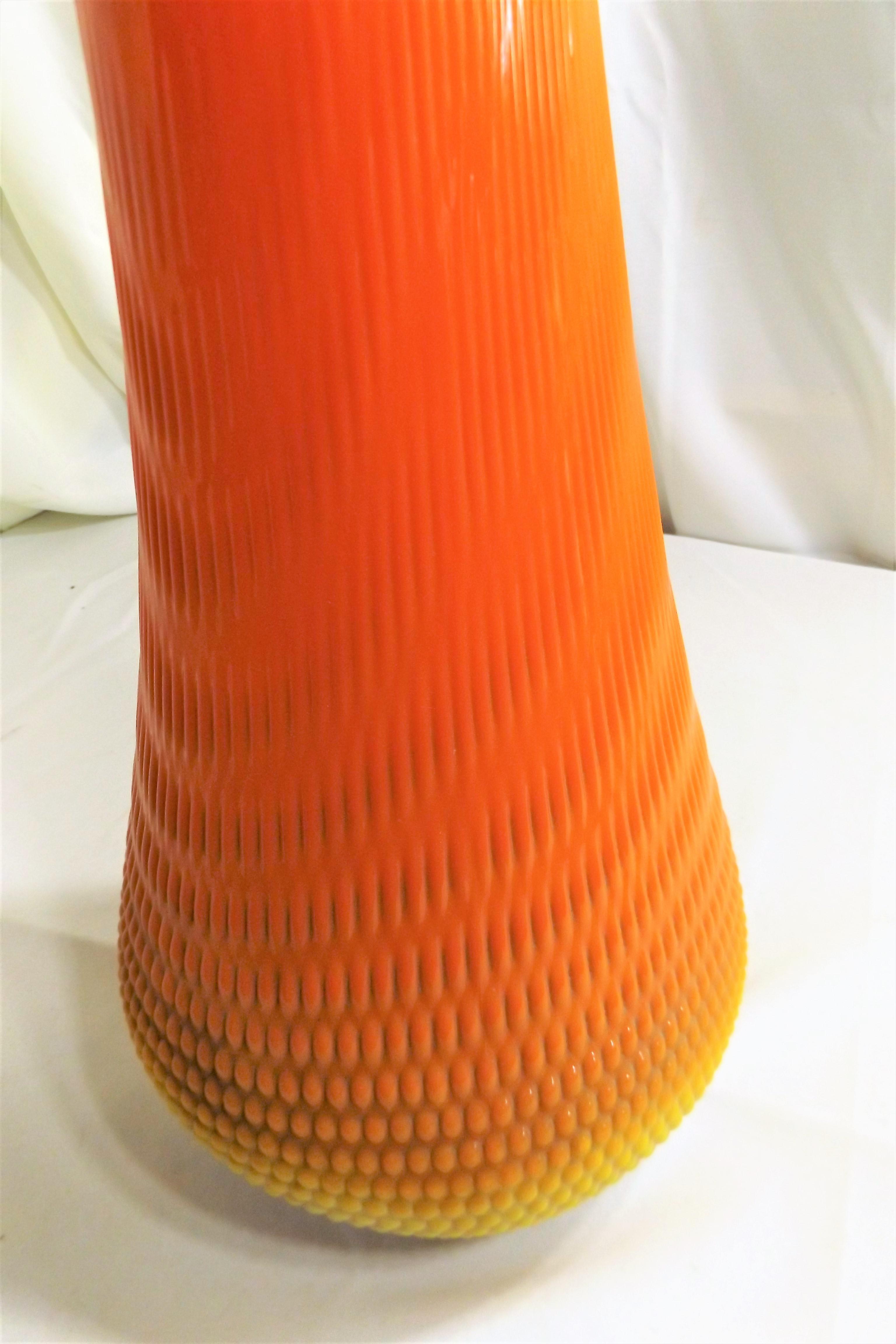 Mid Century Viking Swung Glass Floor Vase   Image 8 Of 11